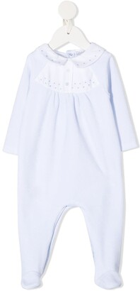 Patachou Embroidered Buttoned Romper