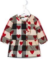 Burberry heart print checked dress