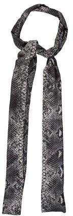 Just Cavalli Modal Snakeskin Printed Scarf w/ Tags