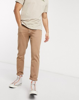ASOS DESIGN slim jeans in tan