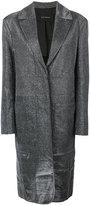 Cédric Charlier long glitter coat