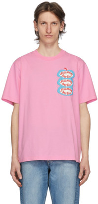 Billionaire Boys Club Pink Apple Logo T-Shirt