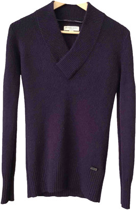 Burberry Purple Cashmere Knitwear