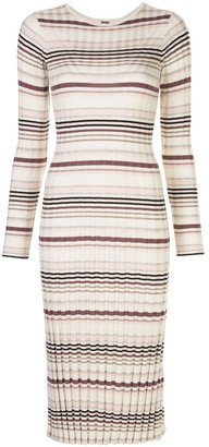 Adam Lippes Striped Print Dress