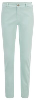 HUGO BOSS Regular-fit chinos in stretch-cotton satin
