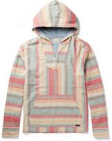 Faherty Baja Striped Cotton Hoodie - Multi