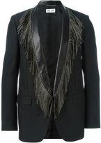 Saint Laurent fringed lapels blazer - men - Mohair/Wool/Lamb Skin/Silk - 44