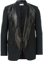 Saint Laurent fringed lapels blazer - men - Silk/Lamb Skin/Mohair/Metal (Other) - 44