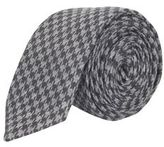 Burton Mens Charcoal Dogtooth Tie