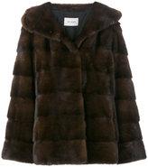 Yves Salomon panel hooded jacket