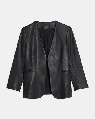 Theory Lindrayia Blazer in Leather