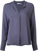 Vince longsleeved v-neck shirt - women - Silk - 0