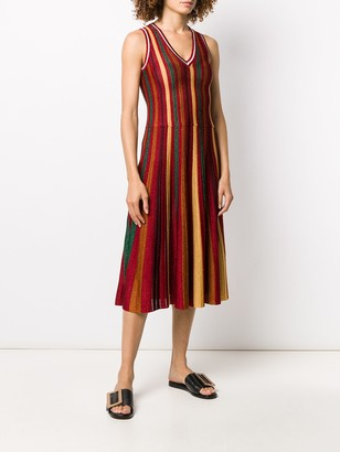 La DoubleJ Accordion knit dress