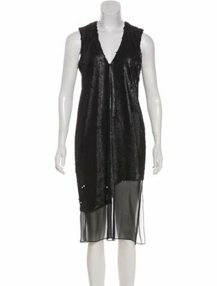 Prabal Gurung Sequin Embellished Shift Dress Black