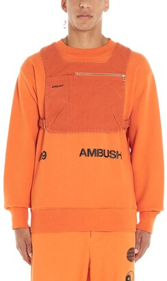 Ambush Logo Print Front Zip Chest Bag