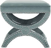 Pier 1 Imports Blue Noah Ottoman with Silver Nail Heads