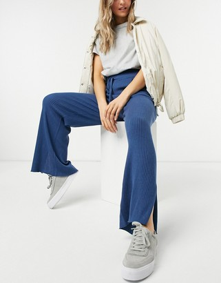 Steele loungeable wide rib coordinating sweatpants in teal
