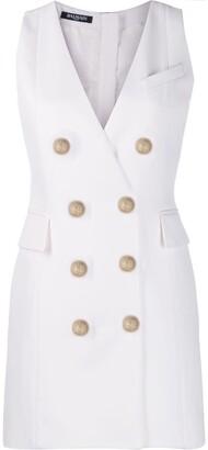 Balmain double-breasted waistcoat dress
