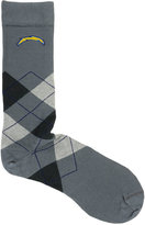 For Bare Feet San Diego Chargers Argyle Dress Socks