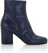 Maison Margiela Women's Metallic Suede Ankle Boots