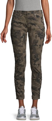 Driftwood Floral Embroidered Camouflage Jeans