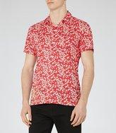 Reiss Raquet Liberty Print Cuban Collar Shirt