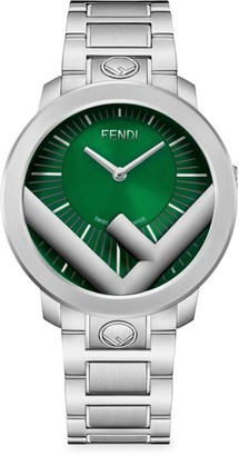 Fendi Timepieces Run Away Stainless Steel Bracelet Watch
