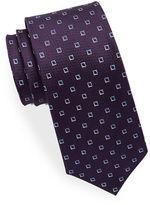Black Brown 1826 Square Patterned Silk Tie