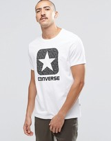 Converse T-shirt With Reflective Logo In White 10002801-a01