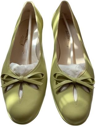 Salvatore Ferragamo Green Leather Ballet flats