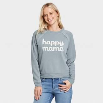 Grayson Threads Women's Happy Mama Sweatshirt Juniors') - Blue