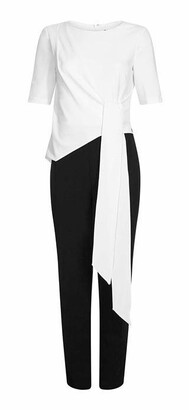 Adrianna Papell Adrianna Contrast Top Jumpsuit Womens