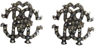 Roberto Cavalli Silver Metal Earrings