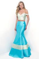 Blush Lingerie Off the Shoulder Mikado Mermaid Dress 11313