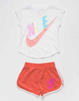 Nike Futura Little Girls Blue Tee & Shorts Set (4-6x)