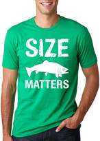 Crazy Dog T-shirts Crazy Dog Tshirts Size Matters Fish T Shirt funny fishing shirt fish tee