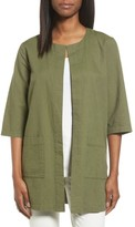 Eileen Fisher Petite Women's Organic Cotton Long Jacket