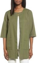 Eileen Fisher Women's Organic Cotton Long Jacket