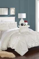 Zach Floral 4-Piece Embellished Duvet Cover Set - White