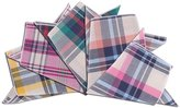 TopTie Men's Cotton Pocket Squares Handkerchiefs Hankie Set 5 Pcs Mixed Pattern