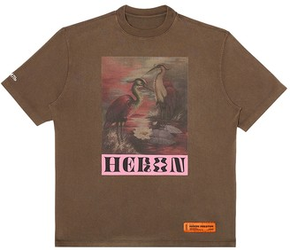 Heron Preston Graphic Print Birds T-shirt Onyx/ Dark