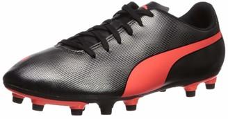 Puma Men's RAPIDO FG Sneaker Black red Aged Silver 9.5 M US