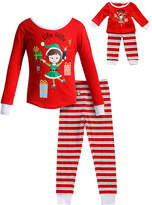 Dollie & Me Red 'Elfie Selfie' Pajama Set & Doll Outfit - Toddler & Girls