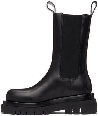 Bottega Veneta Black 'The Lug' Chelsea Boots