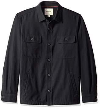Goodthreads Men's Military Broken Twill Jacket Casual Shirt,Small