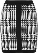 Balmain houndstooth mini skirt