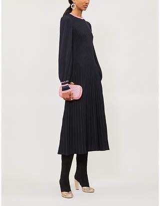 Roksanda Mereza blouson-sleeved knitted midi dress