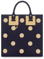 Sophie Hulme 'Albion' Polka Dot Studded Leather Crossbody Bag - Blue