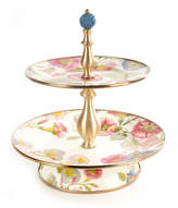 Mackenzie Childs MacKenzie-Childs Morning Glory Two-Tier Sweets Stand