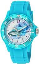 EWatchFactory 'Shark Week' Quartz Plastic Sport Watch, Color:Blue (Model: WDC000066)